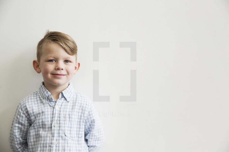 portrait of a smiling young kid.