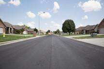 a neighborhood street.