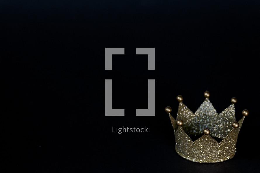 crown on black background