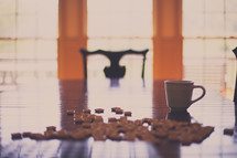 coffee mug on a table