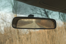 rear view mirror view