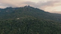 Slow drone shot over the jungle's of Bougainville Island in Papua New Guinea.