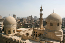 dome and tower of a mosque in Egypt