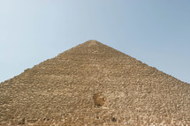 looking up to the top of the pyramids in Egypt