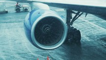 plane turbine in the snow