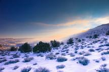 snow on a mountain top