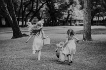 children at an Easter egg hunt