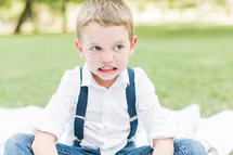 a mad little boy