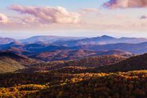 mountain range in fall