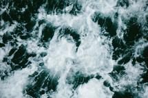churning water