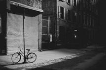 bicycle on a city sidewalk