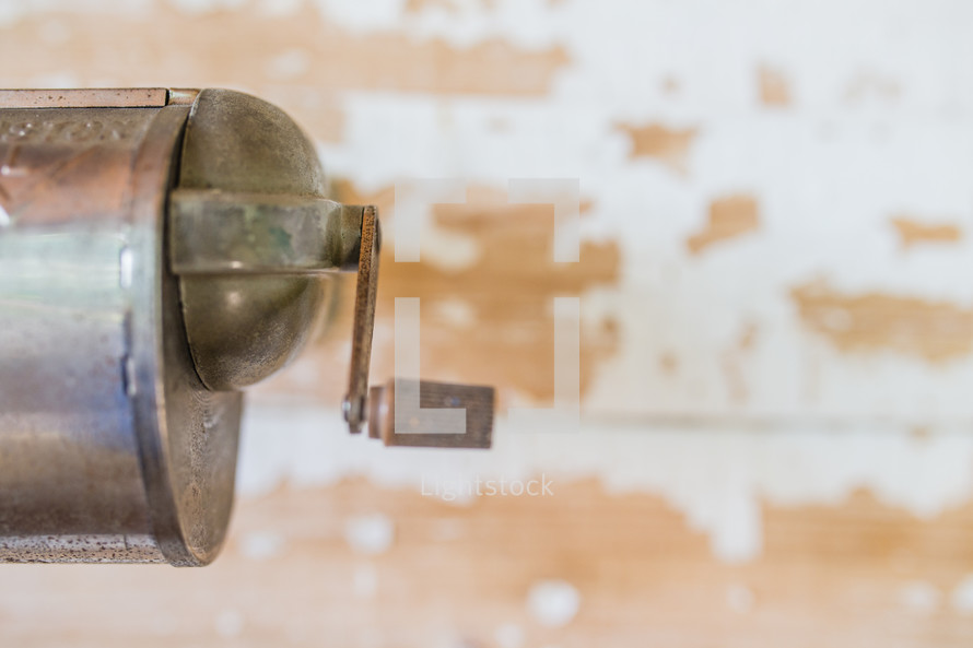 pencil sharpener on a wall