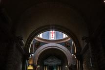 interior of an ancient church