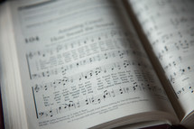 Amazing Grace in a hymnal