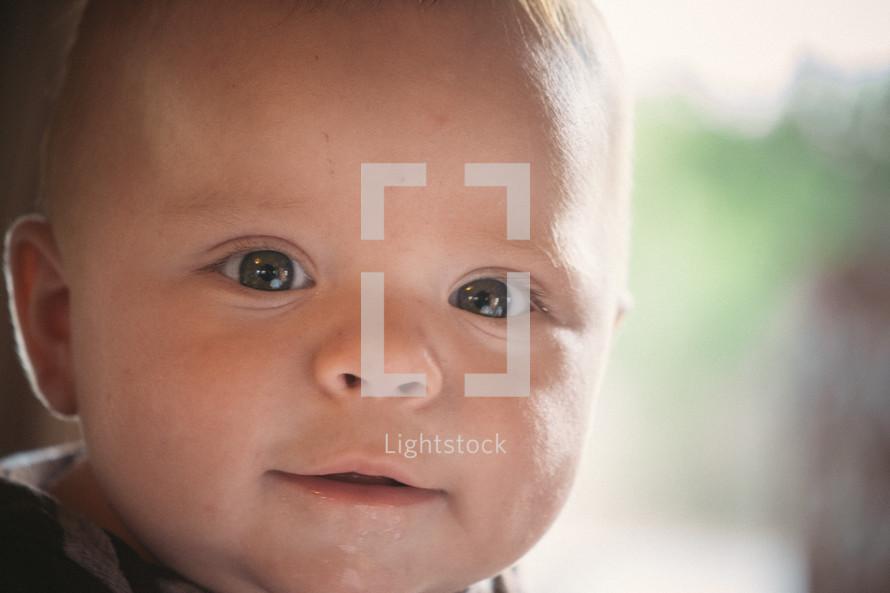 Toddler boy's face.