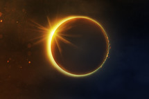 total solar eclipse of the sun in the sky