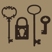antique key and lock