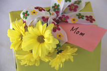 Mother's day gift, flowers and card
