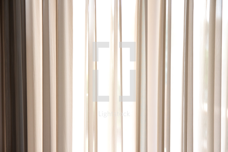white curtain background