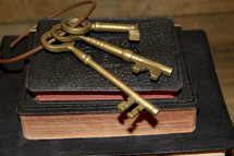 skeleton keys on a Bible