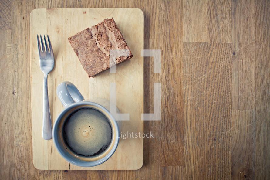 brownie and coffee mug