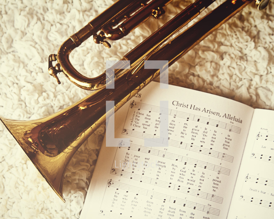 trumpet and Easter hymn