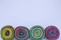 colorful yarn border