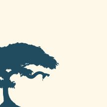 Silhouette of tree of good and evil with attacking snake.