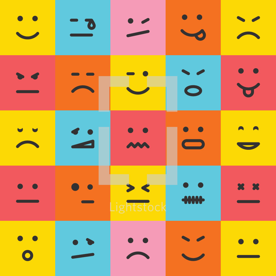 square emotion icons