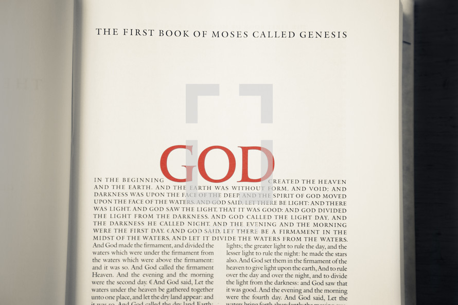 The first Book of Moses called Genesis