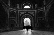 Silhouettes in the Taj Mahal