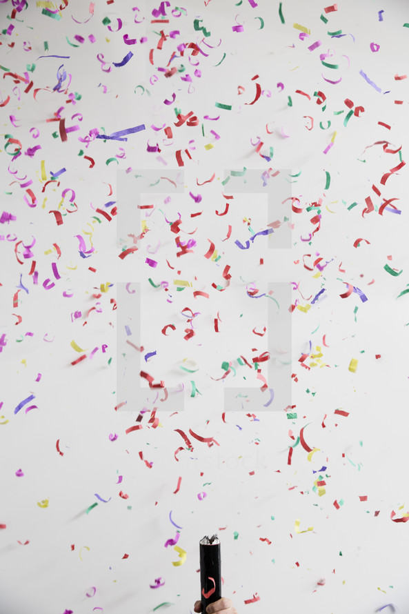 background of falling confetti.