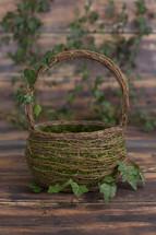 moss in a basket