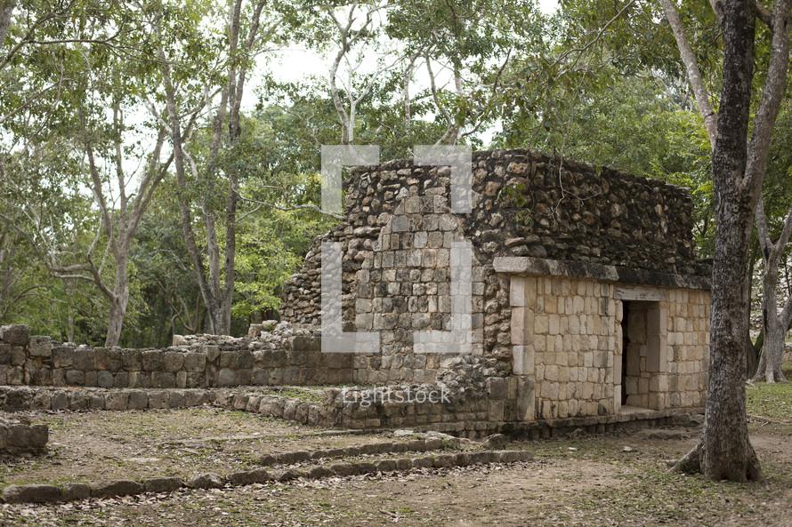 Uxmal Mayan Ruins at Yucatan Mexico