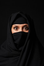 Muslim woman in a niqab