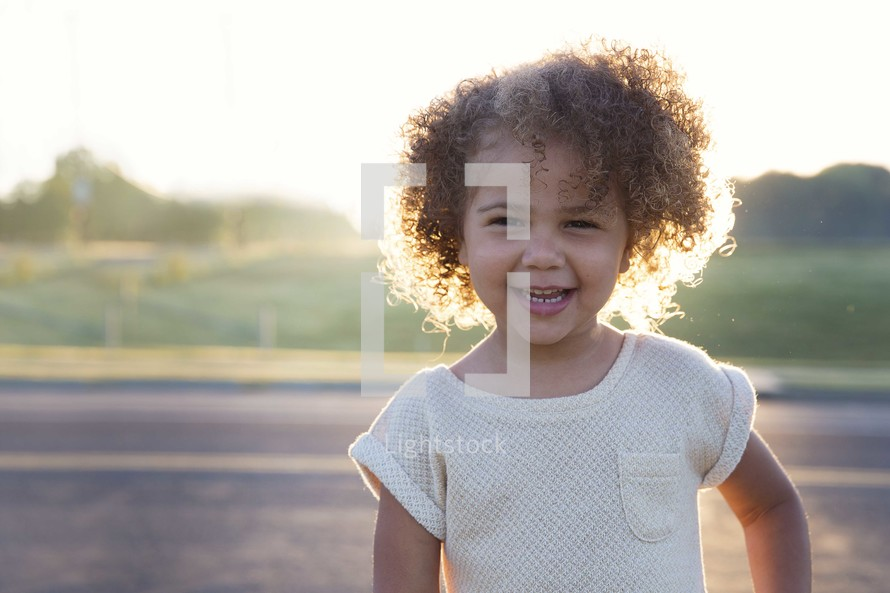 a happy smiling toddler girl