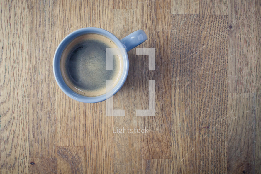 an empty mug