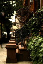 steps leading to sidewalks in Manhattan