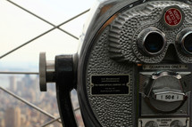 viewfinder scope looking out over New York City