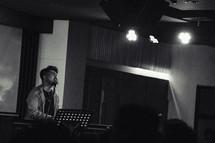 worship leader singing