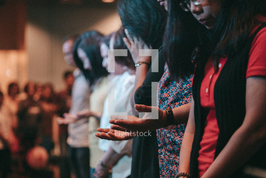 group worship during a worship service