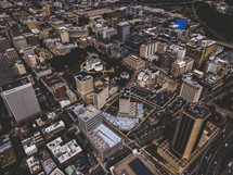 aerial view over a city
