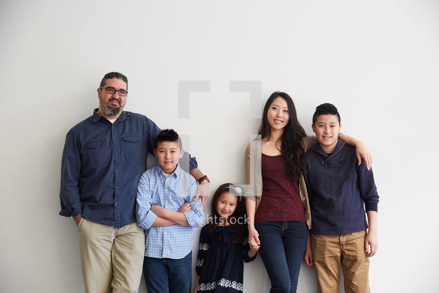 family portrait in studio