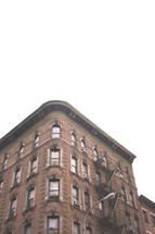 brick apartment building in New York City