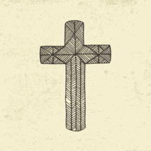hand drawn cross