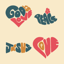 God is Love, peace, Jesus, Jesus fish, heart, Love, marriage, homosexuality, man, woman, dove, hippie, lettering, words, text