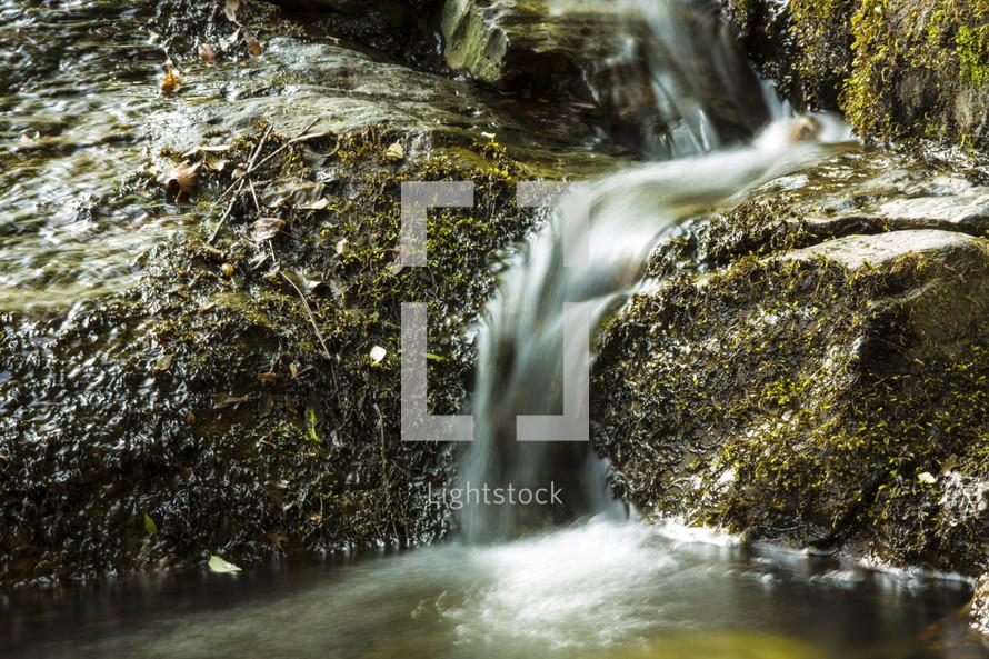 trickling water in a stream