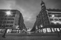 downtown buildings in Europe