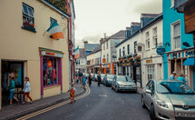 shops along a European street