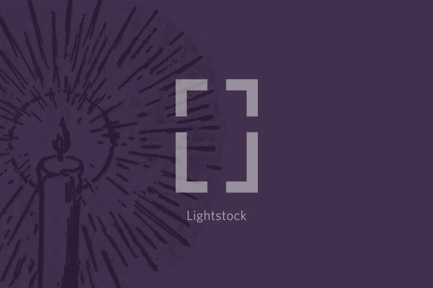 candlestick in purple